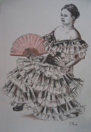 <a href='askme.php?folder=1&image=086_86.JPG'>Ask me about this image</a><br /><br /> Name:Flamenco Girl<br>Info:Sanguine and pastle<br>For Sale: Yes.